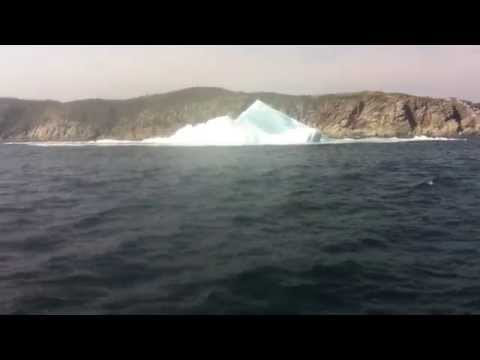 Footage of a floundering iceberg. Filmed in the heart of Iceberg Alley; in Sou'West, near Croque, along the French Shore, on the Northern Peninsula, Newfoundland & Labrador. Each year thousands...