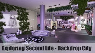 Exploring Second Life - Backdrop City - #SecondLifeChallenge