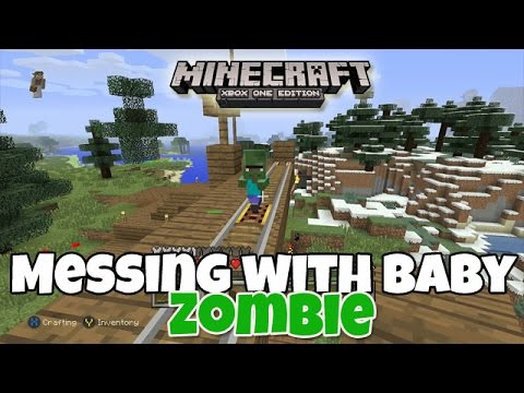 Messing with Baby Zombie - Minecraft Xbox One Edition (Gameplay, Walkthrough)