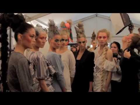 Backstage at Vivienne Westwood Red Label SS12
