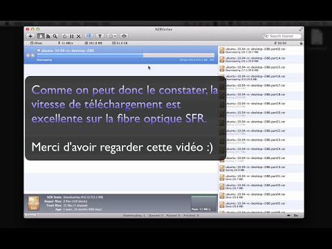 Newsgroup - Test et vitesse de téléchargement avec la fibre optique SFR.