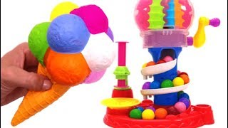 Learn Colors Play Doh Ice Cream Squishy Toy Microwave Toys Play