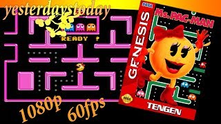 Ms. Pac-Man Gameplay (Mega Drive/Genesis) [HD 1080p @ 60fps]