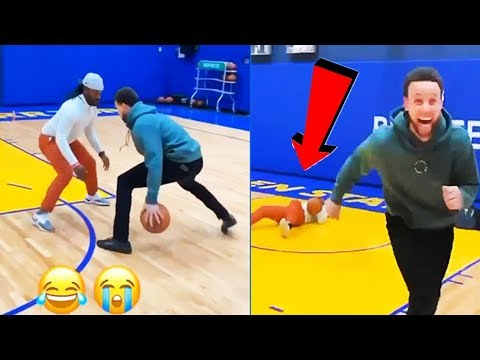 Stephen Curry plays 1-on-1 game with his friend