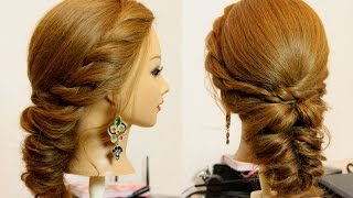 Easy everyday hairstyle for long medium hair tutorial
