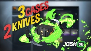 3 Boxes 2 Knives