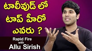 Rapid Fire With Allu Sirish || ABCD Movie Review || Allu Sirish Exclusive Interview || Socialpost