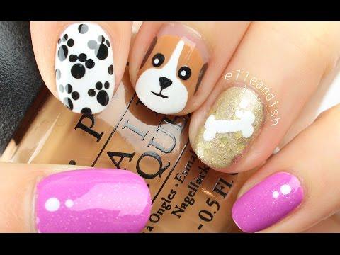 ❤ EASY PUPPY DOG Nail Art!  ❤