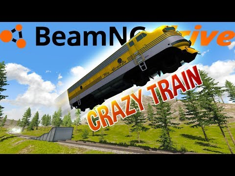 The Craziest Train Stunts and Crashes - High Speed Train Locomotive - BeamNG Drive
