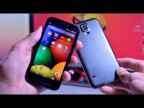 Moto E vs. Samsung Galaxy S5 - Surprising! (Speed Test Review!)