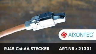 Montageanleitung Cat.6A RJ45 Stecker Art.-Nr. 21301 - Deutsch