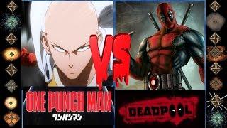Saitama (One Punch Man) vs Deadpool (Marvel Comics) - Ultimate Mugen Fight 2016