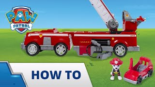 Paw Patrol | How To | Ultimate Fire Truck | Using the Ladder
