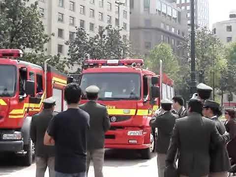 Carros de bomberos y sus sirenas