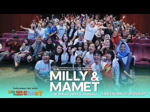 download lagu MILLY & MAMET(Ini Bukan Cinta & Rangga) - Nobar Di Daan Mogot gratis