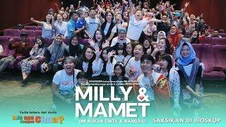 Download Lagu MILLY & MAMET(Ini Bukan Cinta & Rangga) - Nobar Di Daan Mogot Gratis STAFABAND