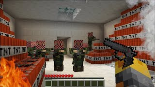 Minecraft TERRORIST TAKE OVER MOD / FIGHT OFF CREEPER TERRORIST !! Minecraft