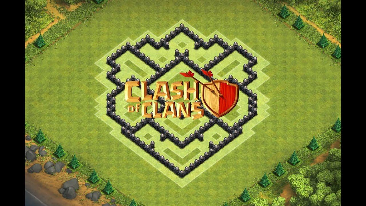 Clash Of Clans - Layout de Defesa para Centro de Vila 7 (Town Hall 7 ...