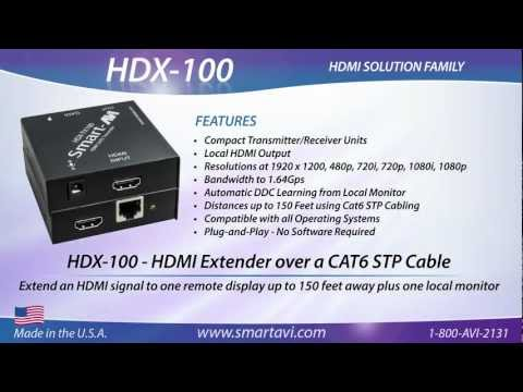 HDX-100 - HDMI Extender over a CAT6 STP Cable