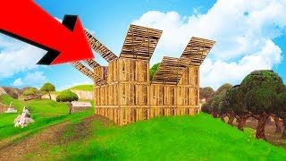 Building The BIGGEST WOODEN FORTS! - Fortnite Battle Royale