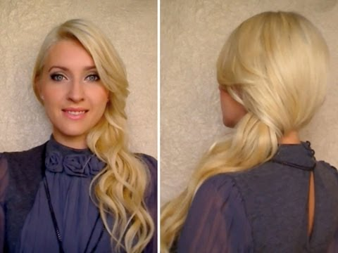 Side Swept Curls: How To Secure With Bobby Pins Down Do Hairstyle For Long Hair