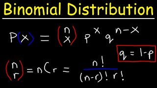 Finding The Probability of a Binomial Distribution Plus Mean & Standard Deviation