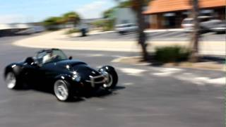 1999 Panoz Roadster Handling in parking lot