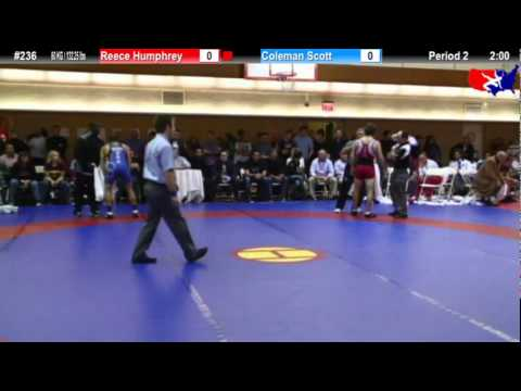 NYAC FS 60 KG / 132.25 lbs: Reece Humphrey vs. Coleman Scott