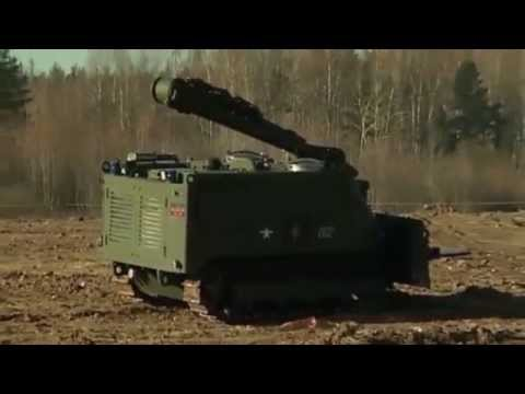 Russian armed forces unmmaned ground robots for mine  clearing mission  Russia defense industry