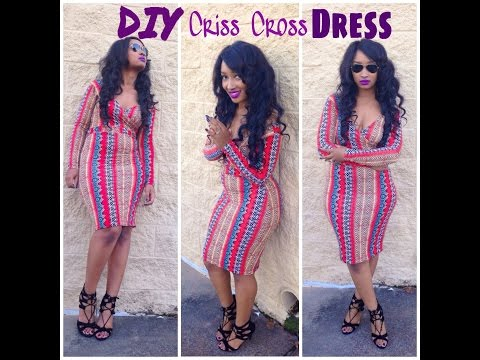 Diy  Criss Cross Dress  Front &amp  Back