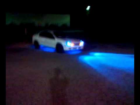 Dodge neon srt powersliding in parking lot