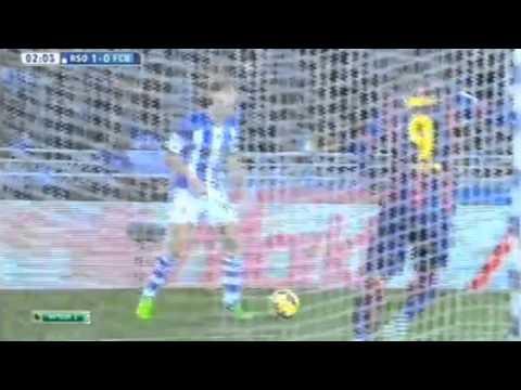 Jordi Alba Own Goal - Real Sociedad vs Barcelona 1-0 (2015 HD)