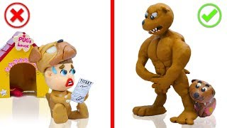 SUPERHERO BABY ANGRY WILD PUPPY DOG 💖 Play Doh Cartoons For Kids