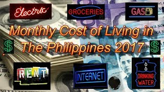 MONTHLY COST OF LIVING IN THE PHILIPPINES 2017 /ANGELES CITY- FAMILY OF THREE