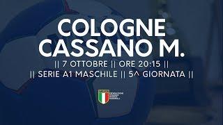 Serie A1M [5^]: Cologne - Cassano Magnago 29-28