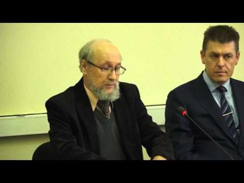 Открытие круглого стола и доклад Виктора Васильевича Бычкова