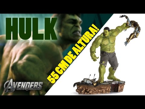 Unbox: Hulk 1 6 Diorama - The Avengers - Iron Studios   Fantoy - Estátua Gigante 55 Cm video