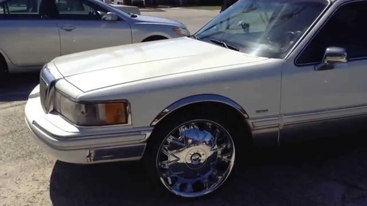 1994 Lincoln Towncar Limo Massiv 915 22 Chrome Wheels Youtube