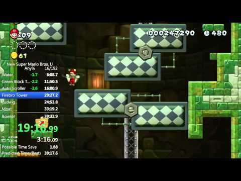 New Super Mario Bros. U - Any% World Record - 39:29
