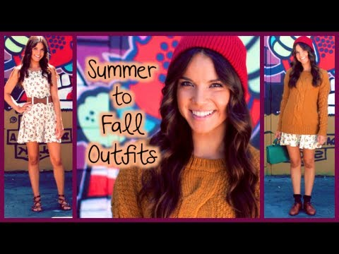 Summer to Fall Outfit Ideas!