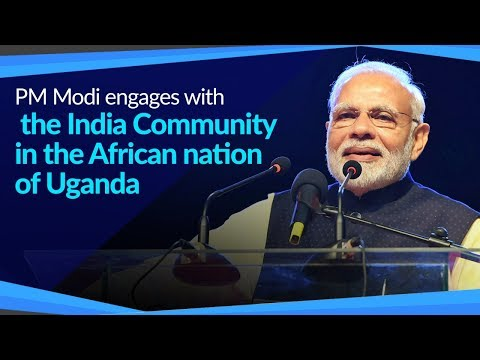 PM Modi engages with the Indian Community in the African nation of Uganda | PMO thumbnail