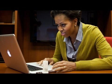 Thumb Video of Michelle Obama learning twitter