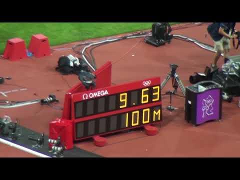 Carrera 100 metros lisos Londres 2012 - Oro Usain Bolt