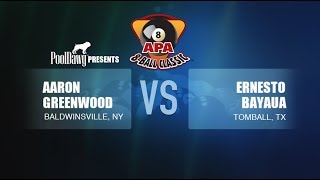 2018 APA 8-Ball Classic Finals - Ernesto Bayaua VS Aaron Greenwood - Purple Tier