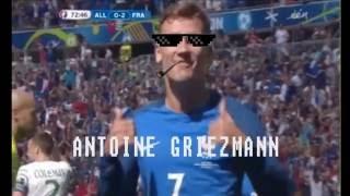2eme but FRANCE - ALLEMAGNE (ANTOINE GRIEZMANN EURO 2016)