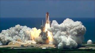 Rocket ship blast off