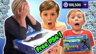 Fortnite Kid Gives Angry Mom WORST MOTHER'S DAY GIFT EVER After She Throws PS4 in the Pool! DavidsTV