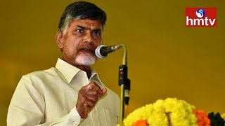 CM Chandrababu Naidu Speech   Polavaram Project Tour    hmtv
