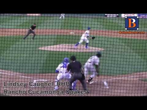 LINDSEY CAUGHEL PROSPECT VIDEO, RHP, RANCHO CUCAMONGA QUAKES #DODGERS