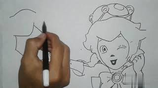 Menggambar Tokoh Game || Drawing Game Theory : The End of Princess Peach ! || Aku Drawing